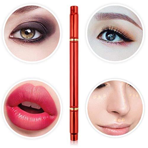 Price comparison product image Advanced makeup brush colorful 4 section portable makeup brush brand new eyebrow brush eyelash curler contour brush lip brush durable detachable makeup brush (A)