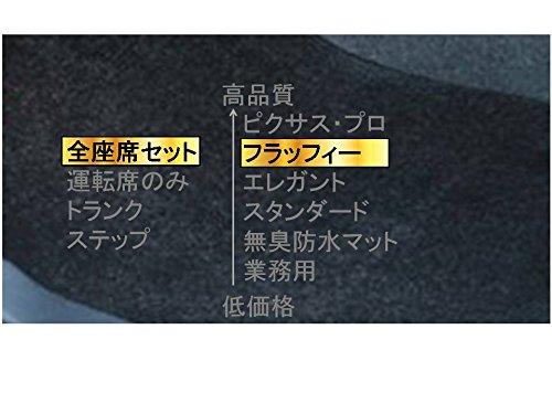 カーマット ホンダ インスパイア/ビガー(~7/4) UC1 平成15年6月~平成19年12月  全座席セットブラック-フラッフィー B07C9FFVF3 全座席セット|4ブラック 4ブラック 全座席セット