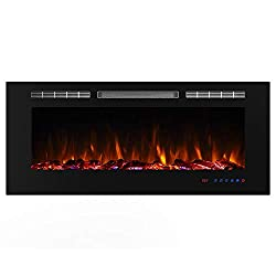 Valuxhome Armanni 750W/1500W, Electric Fireplace Recessed Heater w/ Touch Screen Panel & Remote Control from Valuxhome