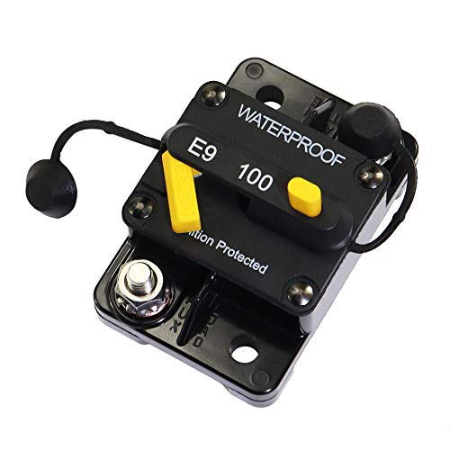 Marine Circuit Breaker 100Amp for Boat Trolling with Manual Reset,Water Proof,12V- 48V DC ()