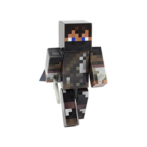 Villager Costume Minecraft (Enderman Hunter Boy Action Figure Toy, 4 Inch Custom Series Figurines by EnderToys)