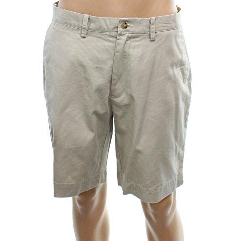 Polo Ralph Lauren Mens Zip-Fly Flat-Front Shorts Beiges