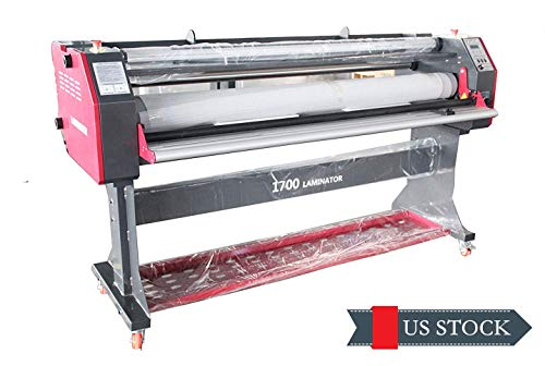 Super Pro 67 inch Full-auto Take Up Large Cold/Hot Laminatinor Machine Low Temp Wide/Large Format Roll Laminating Machine Heat Assistance Single Side 110V US Warehouse