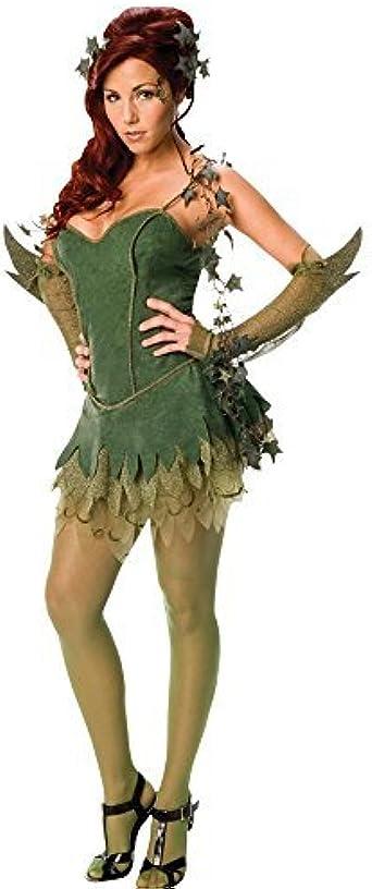 Mujer 5 Piezas Sexy Poison Ivy Villano de Batman Original con ...