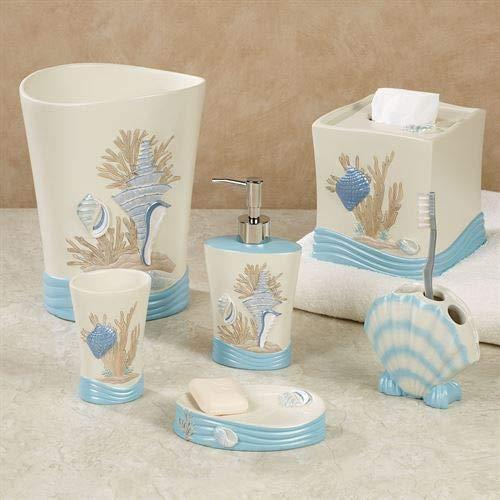 Touch of Class Beach Walk Lotion Soap Dispenser Light Cream (Seashell Wastebasket)