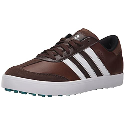 adidas Men's Adicross V Golf Spikeless, Brown/Ftwr White/EQT Green S16, 11  M US