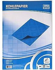 TIPTOP OFFICE - Papel de carbón para escritura a mano, color azul
