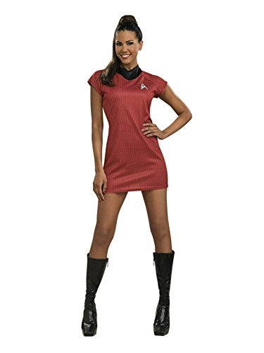Secret Wishes Star Trek Into Darkness Deluxe Uhura Dress with Emblem, Red, Medium