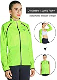Fastorm Women s Running Jacket Windproof Water Resistant Convertible Lightweight Softshell