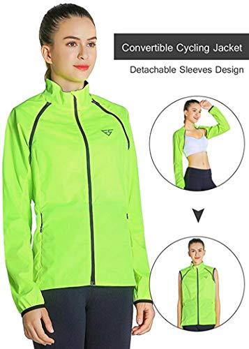 (Fastorm Women Cycling Jacket Windproof Water Resistant Lightweight Softshell Running Outdoor Sportwear)