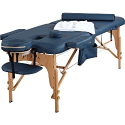 Sierra Comfort All Inclusive Portable Massage Table, Royal Blue