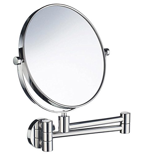 Smedbo FK445 Wall Mounted 7X Magnification/Normal Make-Up Mirror, Polished -