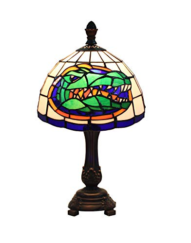 Yogoart 9-inch NCAA Florida Gators Stained Glass Table Lamp 16-inch Total Height