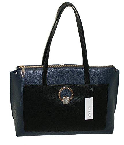 Pollini , Sac pour femme à porter à l'épaule bleu grande