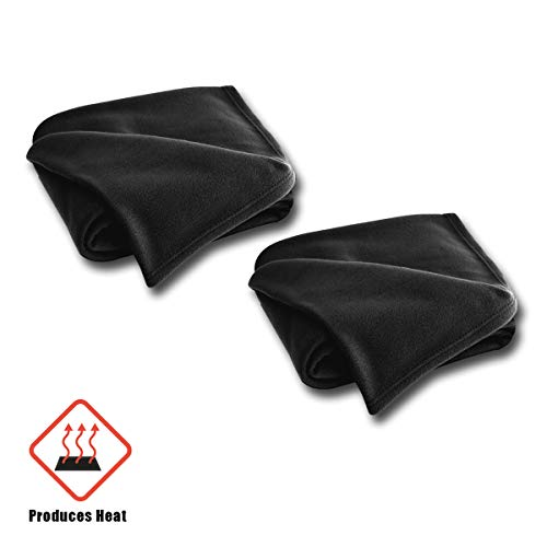 VaygWay 12V Car Heated Blanket- Electric Fleece Travel Blanket Throw- Auto 2Pk Road Trip RV- Soft Polar Fleece Cold Weather-Temperature Control Timer Adjustment- Fireproof Material