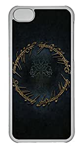 5C Case, iPhone 5C Case, Personalized Hard PC Clear Shoockproof Protective Case Cover for New Apple iPhone 5C - Lotr Art Tolkien
