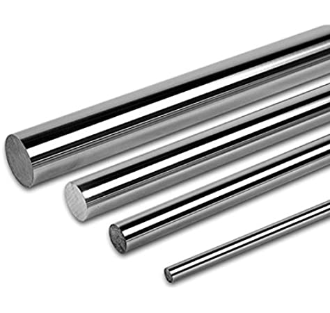 Ochoos 4pcs Dia 10mm 1000mm Chrome Plated Cylinder Linear Rail Round Rod Shaft Linear Motion Shaft