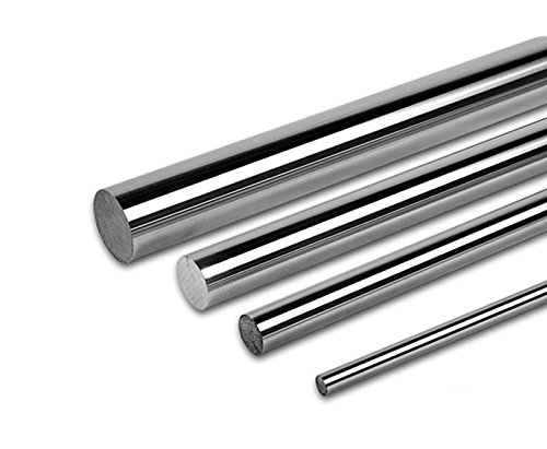 - PDTech 8mm, 10mm, 12mm, and 20mm diameter bearing rod for linear motion, custom cut length, hardened steel chrome plated (12mm dia / 251mm-500mm)