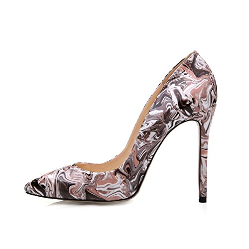Damenschuhe High Heels Spitze Toe Pumps mit Animal Print Wildleder Leopard EU39 Onlymaker zrae8