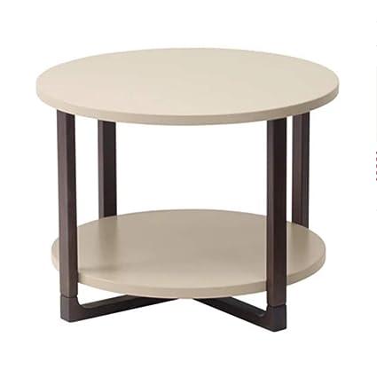 Folding Table Nan Mesa Plegable Mesa De Centro Blanco De 2 Pisos