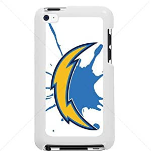 NFL American football San Diego Chargers Fans Apple iPod Touch iTouch 4th Generation Hard Plastic Black or White cases (White)