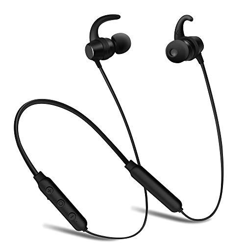 Bluetooth Headphones,SMBOX Wireless Earbuds in-Ear Earphones Sports Gym Bluetooth 4.1 Earbuds with Magnetic Design 6 Hours Playtime,Wireless Earphones IPX6 Sweatproof Headsets for Runing - Black