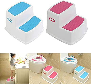 Martinimble 2 Step Stool for Kids Toddler Stool for Toilet Potty Training Slip Bathroom Kitchen