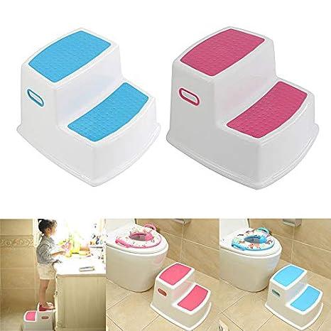 Sendgo 2 Marchepieds pour Enfants Tabouret pour Tout-Petit pour Toilettes Cuisine Slip-Training Salle de Bains Cuisine