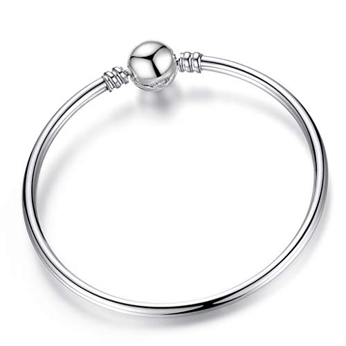 Gift for Girlfriend Luxurious Heart Pendant Bracelet Distinctive Silver Crystal Charm Bracelet For ladies DIY Fine Bracelets; Bracelets Jewelry Gift Decoration ()
