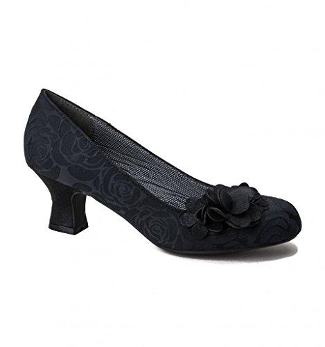 Ruby Shoo Petra Black Womens Mid Heels Court Shoes AQB2O