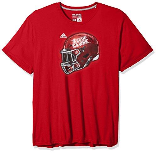 Football Game T-shirt (NCAA Louisiana Lafayette Ragin' Cajuns Men's 2017 Helmet Ultimate Short Sleeve Tee, Medium, Power Red)