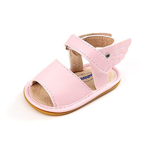 BENHERO Toddler Baby Girls Anti-Slip Rubber Sole Prewalker Summer Sandals(0-24 Months)
