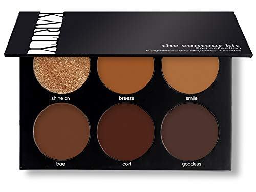 Influencer Approved Contour Kit for Darker Skin – 6 Professional Contour Kit Makeup Palette Set Pro Palette High-end Formula (Highlight & Contour) (Tan Deep)
