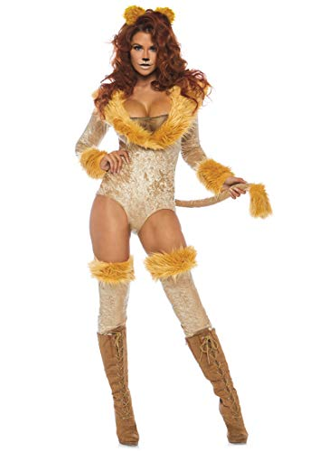Leg Avenue Womens Lovely Lion Costume, Brown,