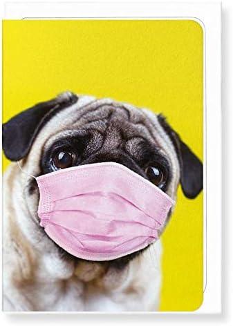 National Health Service Grußkarten Mops Maske