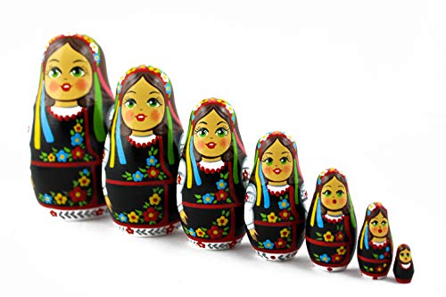MATRYOSHKA&HANDICRAFT Ukrainian Nesting Dolls 7 Pieces - Ukrainian Gifts - Ukrainian Folk Costume Clothing by MATRYOSHKA&HANDICRAFT (Image #7)