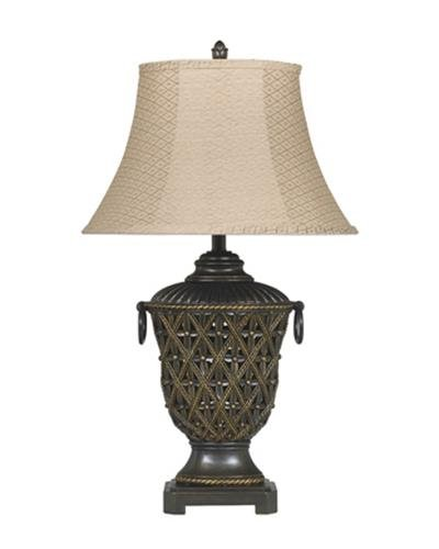 Signature Design by Ashley Redella Poly Table Lamp, Bronze/Gold Finish, Set of 2