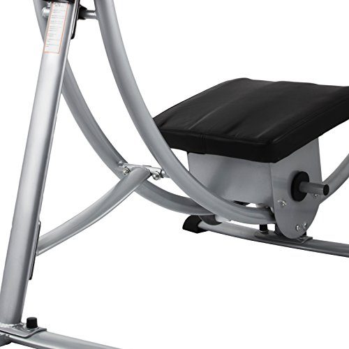 Popsport Abdomen Machine 330LBS Abdominal Coaster Abdomen Exercise Equipment with Adjustable Seat for Abdominal Muscle Training (Ab Coaster with 4 Dumbbells and wriggled Plate) by Popsport (Image #7)