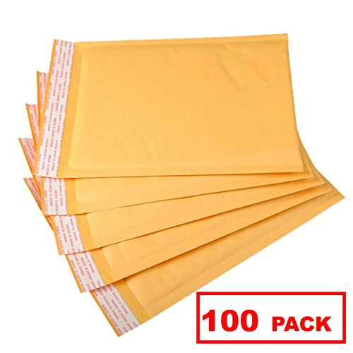 OfficeKit Kraft Bubble Mailers #5 10.5X16 Inches Shipping Padded Envelopes Self Seal Cushioned Mailing Envelope Bags 100 Pack Bubble Lined Mailers Cushioned Mailing