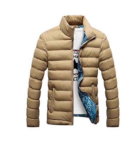 Giacche Uomo Autunno Inverno Caldo Outwear Cappotto Casual Design Solid Wind , Black L
