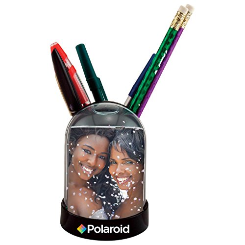 """Snow Globe & Pen/Pencil Holder Photo Frame - Great Display For Your 2x3"""" Memories For 2x3' HP Sprocket, LG, Prynt, LifePrint Printer Projects"""