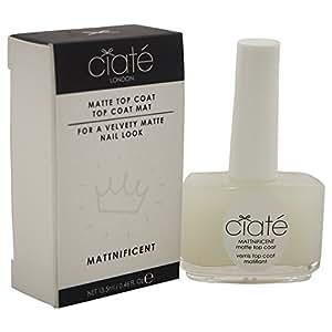 Ciate London Mattnificent Matte Top Coat Women's Nail Polish, 0.46 Ounce