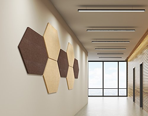 """2-Pack ADW Acoustic Panels 24"""" X 24"""" X 2"""" Hexagons ..."""