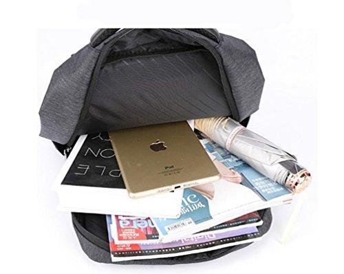 bigforest Laptop Reise Rucksack College Student Computer, Notebook Handtasche für Schule Arbeit grau grau Einheitsgröße blau