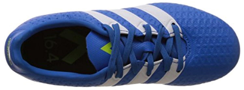 adidas Unisex Kids' Ace 16.4 Fxg J Footbal Shoes, Blue (Shock Blue/Ftwr White/Semi Solar Slime), 2 Child UK