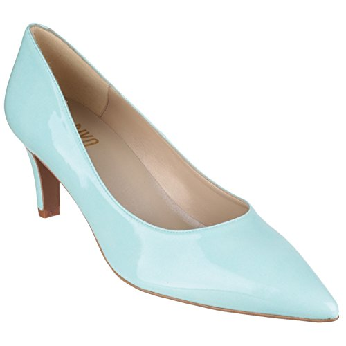 Riva Candy II Patent Ladies Court Shoes Green - 39