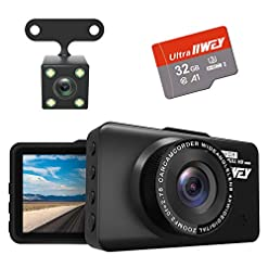 Dash Cam Front and Rear Camera FHD 1080P with Night Vision and SD Card Included, 3 Inch IPS Screen Dash Cam for Cars… Amazon choices [tag]