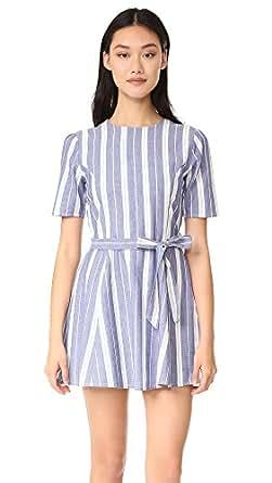 TULAROSA Women's Iris Dress, Indigo Stripe, X-Small
