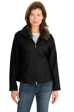 Endeavor Full Zip Jacket (Upscale Ladies Full Zip Endeavor Jacket - Black, Ladies Extra Small)