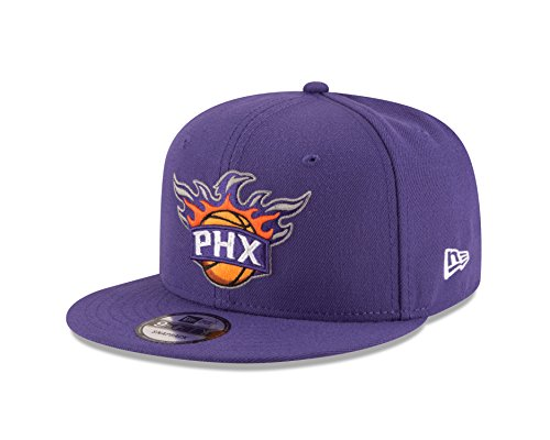 New Era NBA Phoenix Suns Adult Men NBA 9Fifty Team Color Basic Snapback Cap,OSFA,Purple
